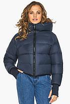 Пуховик зимний женский темно-синий модель 26420, фото 3