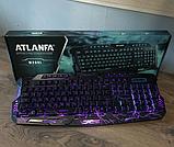 Профессиональная игровая клавиатура  LED ATLANFA M200, фото 6