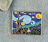 Брошь брошка пин значок художник Винсент ван Гог как картина звездная ночь, фото 2