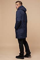 Синяя парка мужская зимняя с капюшоном модель 90520, фото 3