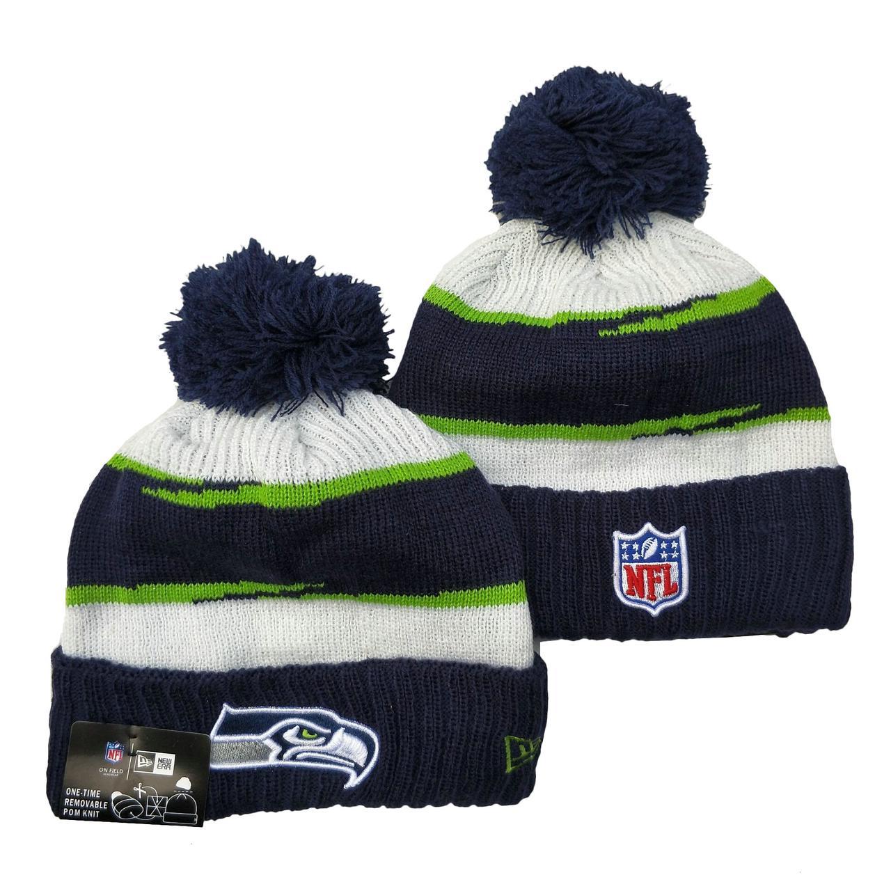 Шапка зимняя Seattle Seahawks / SPK-198 (Реплика)