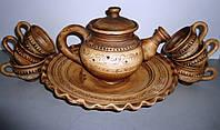 Глиняный чайный сервиз