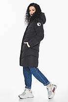 Куртка с капюшоном женская зимняя черная модель 21025, фото 2