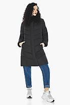 Куртка с капюшоном женская зимняя черная модель 21025, фото 3