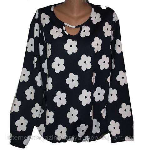 Женский блузон батал (разные расцветки)
