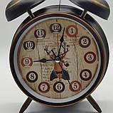 """Часы-будильник """"Винтажные"""" настольные, диаметр 10 см, фото 4"""
