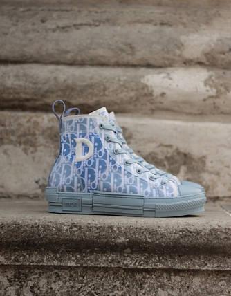 Женские кроссовки Dior Hight Sky Blue, фото 2