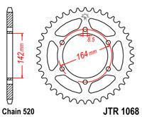 Звезда задняя стальная JT Sprockets JT JTR1068.46