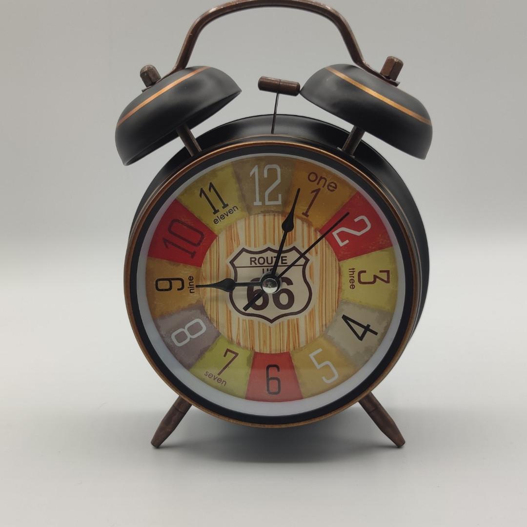 """Часы-будильник """"Винтажные"""" настольные, диаметр 10 см"""
