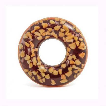 """Круг надувной """"Шоколадный пончик"""" (114 см) 56262, фото 2"""