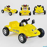 Машинка педальная HERBY Pilsan 07-302, желтый цвет