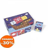 Кубики Janod Пираты (картонные) (J02984)