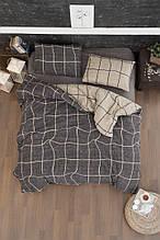 Комплект постельного белья из фланели евро размер ТМ First Choice Adonis brown