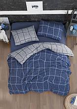 Комплект постельного белья из фланели евро размер ТМ First Choice Adonis denim