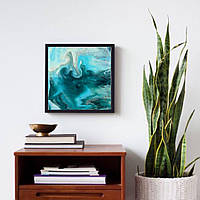 Набор для рисования в технике Fluid Art Azure Breeze (Жидкий акрил) 30х30см квадрат