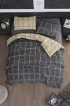 Комплект постельного белья из фланели евро размер ТМ First Choice Adonis Grey