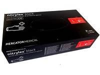 Перчатки нитриловые Mercator Medical nitrylex 100 шт, размер L чёрные