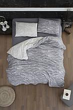 Комплект постельного белья из фланели евро размер ТМ First Choice Larnell Grey