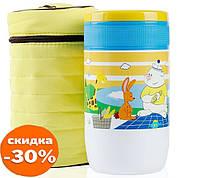 Термос детский пищевой Pinkah TMY-3335 500 мл, желтый