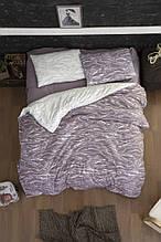 Комплект постельного белья из фланели евро размер ТМ First Choice Larnell Lilac