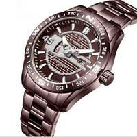 Красивые мужские часы кварцевые Naviforce NF9157 All Brown оригинал