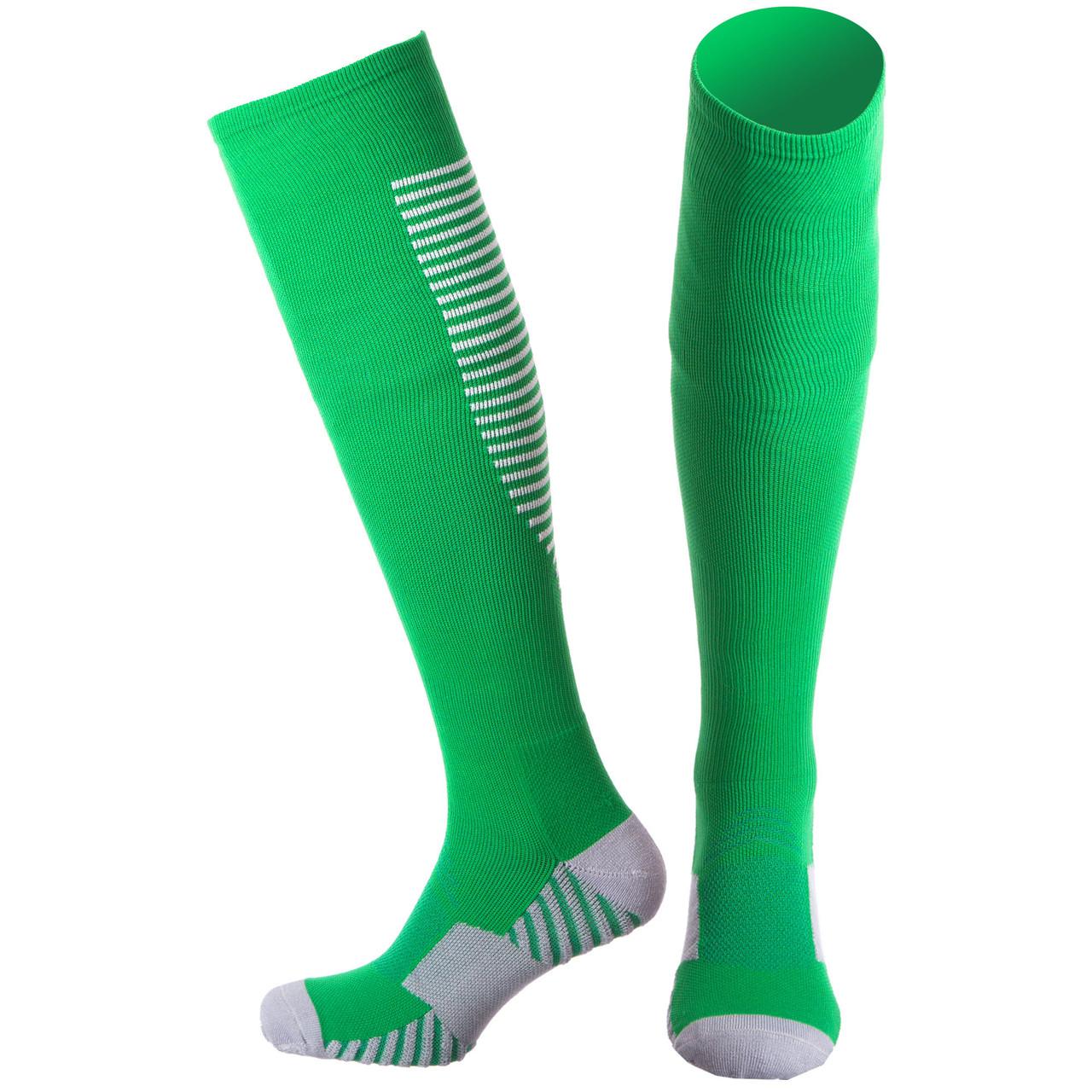 Гетры мужские спортивные р.40-45 JCM655, Зеленый-серый