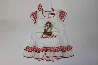 Детское летнее платье с оборками Размер 80 см, 90 см, 100 см, 120 см