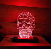 Ночник-светильник 3d Череп красный AVA-003