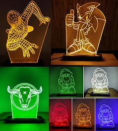 Ночники и светильники 3d из Акрила