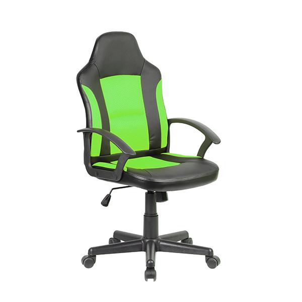 Геймерское кресло Zeus Tifton, черно-зеленый