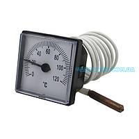 Термометр Imit, Arti 45х45 мм 0/120°C капиляр 1000 мм