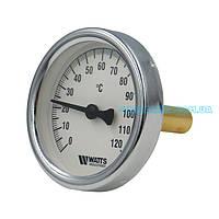 Термометр занурювальний Watts Німеччина 0 - 120°С Круглий Ø 63mm, гільза R1/2 довжина 50мм