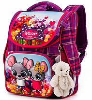 Рюкзак шкільний в 1-3 клас з ортопедичною спинкою для дівчинки Мишки Winner One 2041, фото 2