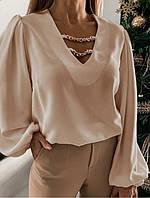 Легкая женская блузка с широкими рукавами  017В/05, фото 1