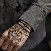 Мужской металлический браслет Zombie