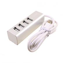Концентратор Hoco HB1 4USB HUB Adapter for USB 2.0 Silver