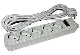 Фильтр сетевой 3 м Maxxter SPM5-G-10G Gray 5 розеток