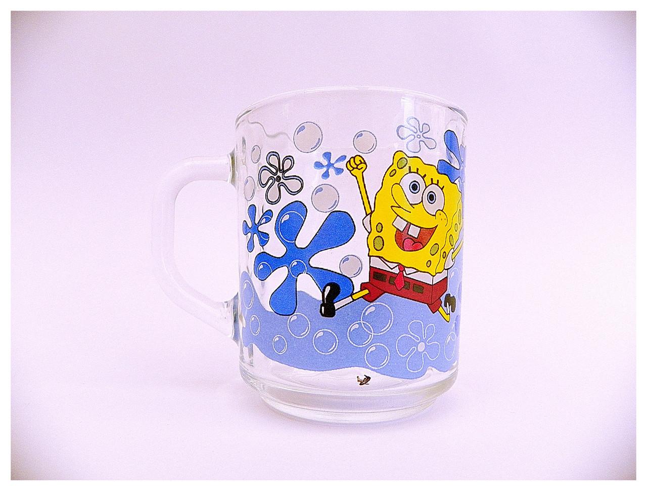 """Чашка стеклянная детская """"Спанч Боб"""""""