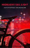 Задняя велосипедная фара, Стоп, Мигалка, Вело Габарит (батарейка CR2032*2 в комплекте, 50-160ч работы), фото 6