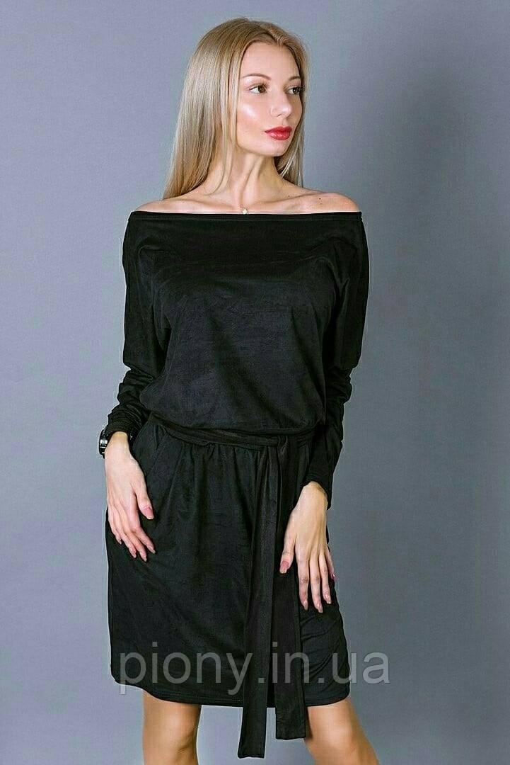 Женское платье из эко-замши