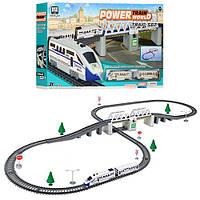Крутая детская игрушечная интерактивная железная дорога 2184 со светом со звуком длиной 366 см