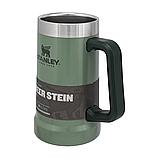 Термокружка пивна Stanley Adventure Stein Hammertone Green 0.7 л, фото 3