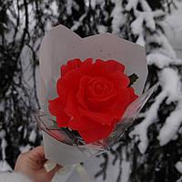 Мыло ручной работы в форме розы на ножке подарок для девушки на 8 марта