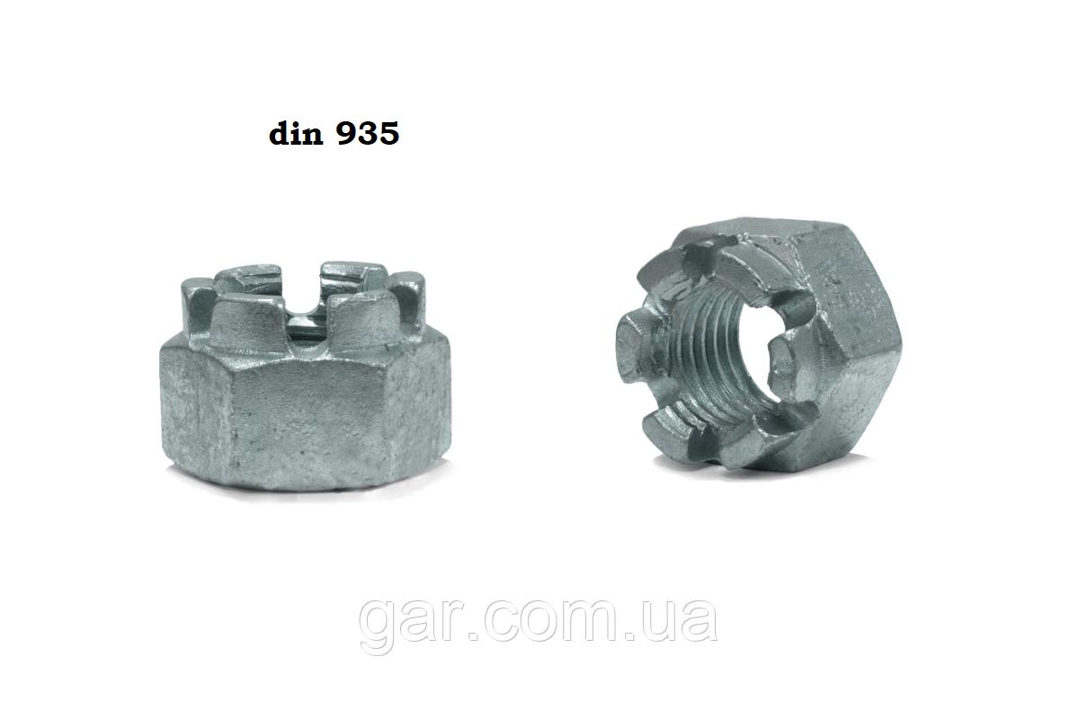 Гайка DIN 935 М12 корончатая