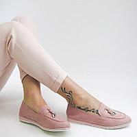 Женские туфли ЛОФЕРЫ MEIDELI. Цвет пудра.