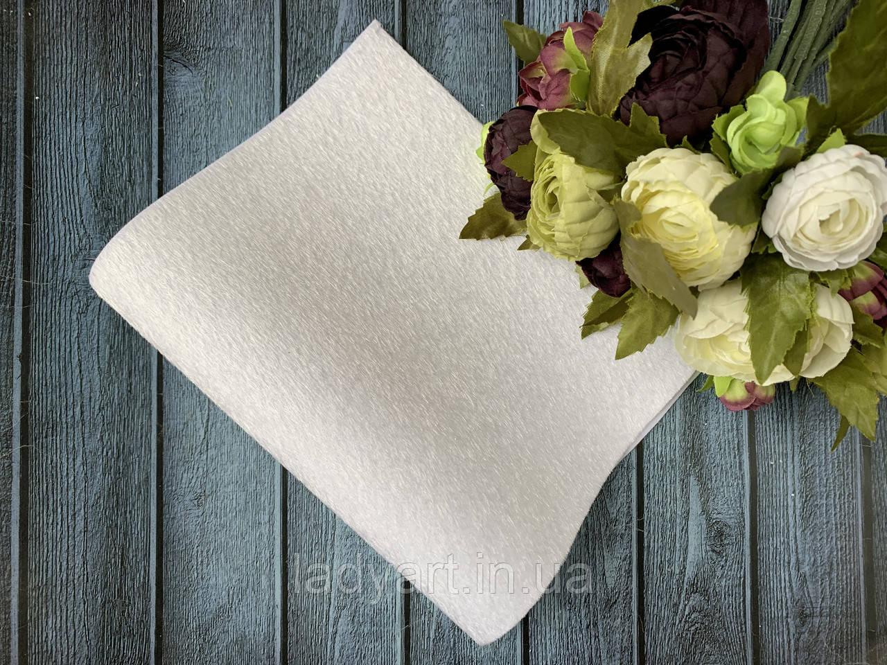 Экокожа «Мех нерпа уплотненный» 20 х 34 см, 10 листов/уп., белый оптом