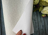 Экокожа «Мех нерпа уплотненный» 20 х 34 см, 10 листов/уп., белый оптом, фото 2