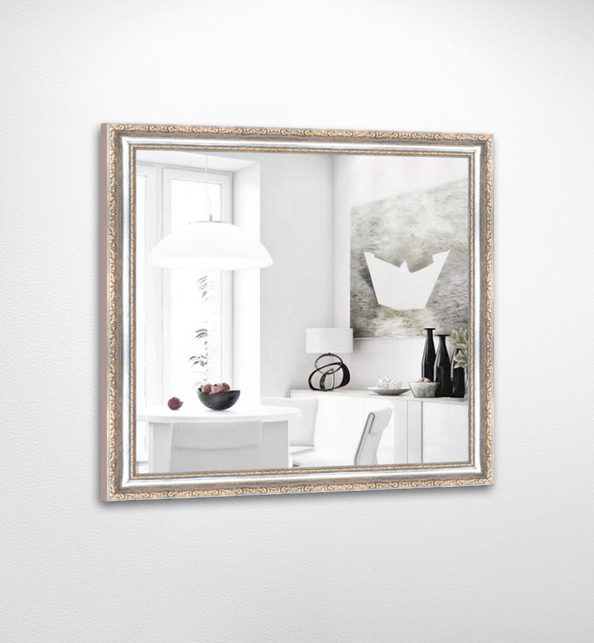 Настенное зеркало БЦ Стол Ванесса квадратное B07 белое