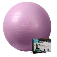 Мяч PowerPlay для фитнеса 4001 75см Фиолетовый, насос SKL24-143903