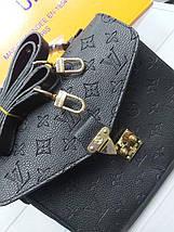 Женская сумка-клатч Луи Виттон копия Черный, фото 2